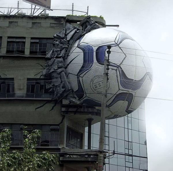 创意爆棚,彻底阻挡不了地球人在建筑物上做广告了!
